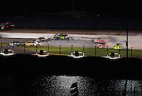 Jul. 5, 2008; Daytona Beach, FL, USA; NASCAR Sprint Cup Series drivers Denny Hamlin (11) David Reutimann (44) Regan Smith (01) Jimmie Johnson (48) Joe Nemechek (78) J.J. Yeley (20) and Paul Menard (15) are involved in a crash during the Coke Zero 400 at Daytona International Speedway. Mandatory Credit: Mark J. Rebilas-