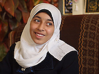 "Amira Al-Qerem (16) photographed in her new home in Gaza City on October 26 2010. Amira was missing and presumed dead after she was injured by one of the same explosions that killed her father, brother and sister during the last days of the Israeli invasion of Gaza in 2009. She was found three days later, after her family thought they had buried her remains with those of the other three. She is one of the main subjects of the controversial documentary film ""Tears of Gaza"" by director Vibeke Løkkeberg."
