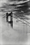 San Francisco's Golden Gate Bridge with fog
