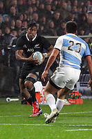 Julian Savea during the 2013 Rugby Championship - All Blacks v Argentina at Waikato Stadium, Hamilton, New Zealand on Saturday, 7th September   2013. Copyright Dion Mellow Photography. Credit DMP / Dion Mellow