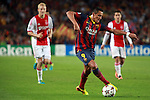UEFA Champions League 2013/2014.<br /> FC Barcelona vs AFC Ajax: 4-0 - Game: 1.<br /> Alexis Sanchez.