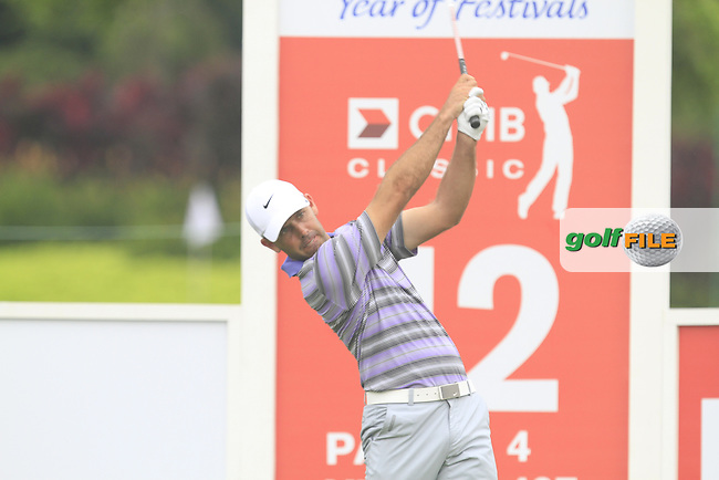 Charl Schwartzel (USA) on the 12th tee during Round 3 of the CIMB Classic in the Kuala Lumpur Golf &amp; Country Club on Saturday 1st November 2014.<br /> Picture:  Thos Caffrey / www.golffile.ie