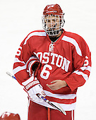 Josh Lyons (BU - 6) - The Boston College Eagles defeated the visiting Boston University Terriers 6-2 in ACHA play on Sunday, December 4, 2011, at Kelley Rink in Conte Forum in Chestnut Hill, Massachusetts.