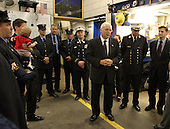 Vice President Dick Cheney meets with firefighters of FDNY RescueCompany 1at their firehouse in New York, New York, September 11, 2003.Eleven firefighters from the company died in the terrorist attacksSeptember 11, 2001. They are: Capt. Terence S. Hatton, 41; Lt. Dennis Mojica, 50; Joseph Angelini Sr., 63; Gary Geidel, 44; William Henry, 49; Kenneth Joseph Marino, 40; Michael G. Montesi, 39; Gerard Terence Nevins, 46; Patrick J. O'Keefe, 44; Brian Edward Sweeney, 29; and David M. Weiss, 41.<br /> Mandatory Credit: David Bohrer / WH via CNP