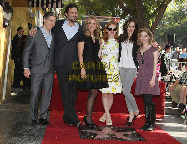 HOLLYWOOD, CA - January 29: Chris Parnell, Jeremy Sisto, Cheryl Hines, Jane Levy, Carly Chaikin, Allie Grant  at the Cheryl Hines Star on the Hollywood Walk of Fame, Hollywood,  January 29, 2014<br /> CAP/ADM/FS<br /> &copy;Faye Sadou/AdMedia/Capital Pictures