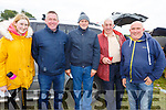 At the Kilflynn coursing meeting on Sunday. L-r, Mairead Guerin, Con and Pat Joe O'Keeffe, John Joe Conway and Tommy Guerin.