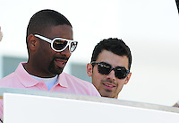 MIAMI BEACH, FL - MARCH 14: DJ Irie and Joe Jonas attend Victorias Secret Pink Nation Hosts Spring Break at The Shelborne on March 14, 2012 in Miami Beach, Florida. (photo by: MPI10/MediaPunch Inc.)