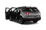 Car images close up view of a 2018 Ford Explorer XLT 5 Door SUV doors