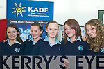KADE: Students from St Joseph's Secondary School, Castleisland at the KADE Development Education workshops at the Tralee Education Centre on Friday, l-r: Statia Peterson, Aisling McCarthy, Mairead McCarthy, Johanna Fleming, Jayne Shanahan.   Copyright Kerry's Eye 2008