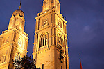 Zurich Great Church (Grossmunster) <br /> Originally founded by the Holy Roman Emperor Charlemagne, this Romanesque and Gothic cathedral has twin three story towers.