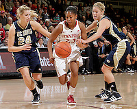 STANFORD, CA - November 30, 2011:  Jasmine Camp during Stanford's 93-44 victory over UC Davis in Stanford, California on November 30, 2011.