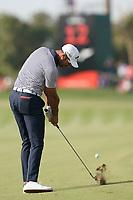 Alvaro Quiros (ESP) on the 12th fairway during the third round of the Omega Dubai Desert Classic, Emirates Golf Club, Dubai, UAE. 26/01/2019<br /> Picture: Golffile | Phil Inglis<br /> <br /> <br /> All photo usage must carry mandatory copyright credit (© Golffile | Phil Inglis)