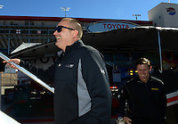 Oct. 26, 2012; Las Vegas, NV, USA: NHRA top fuel dragster driver Brandon Bernstein during qualifying for the Big O Tires Nationals at The Strip in Las Vegas. Mandatory Credit: Mark J. Rebilas-