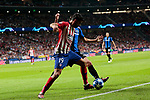 Atletico de Madrid's Diego Costa and Club Brugge's Benoit Poulain during UEFA Champions League match between Atletico de Madrid and Club Brugge at Wanda Metropolitano Stadium in Madrid, Spain. October 03, 2018. (ALTERPHOTOS/A. Perez Meca)