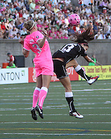 WNY Flash and the Boston Breakers play to a 2-2 draw at a July 24th match at Harvard Stadium in Boston.