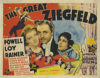 The Great Ziegfeld (1936) <br /> Lobby card with William Powell, Myrna Loy &amp; Luise Rainer<br /> *Filmstill - Editorial Use Only*<br /> CAP/MFS<br /> Image supplied by Capital Pictures