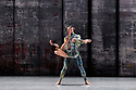 London, UK. 07.11.2019. Rambert presents RAMBERT EVENT, by Merce Cunningham, at Sadler's Wells. Choreography by Merce Cunningham, staging by Jeannie Steele, Music by Philip Selway, Quinta and Adem Ilhan, designs inspired by Gerhard Richter's 'Cage' series, performed by Rambert. The dancers are: Brenda Lee Grech, Guillaume Queau.mPhotograph © Jane Hobson.