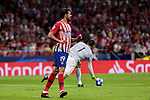 Atletico de Madrid's Diego Costa and Club Brugge's Karlo Letica during UEFA Champions League match between Atletico de Madrid and Club Brugge at Wanda Metropolitano Stadium in Madrid, Spain. October 03, 2018. (ALTERPHOTOS/A. Perez Meca)