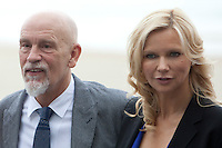 US actor John Malkovich and actrss Veronika Ferres presents the film 'Casanova Variations' during the 62st San Sebastian Film Festival in San Sebastian, Spain. September 22, 2014. (ALTERPHOTOS/Caro Marin)