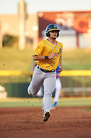 AZL Athletics Gold Shane Selman (13) runs to third base during an Arizona League game against the AZL Cubs 1 at Sloan Park on June 20, 2019 in Mesa, Arizona. AZL Athletics Gold defeated AZL Cubs 1 21-3. (Zachary Lucy/Four Seam Images)
