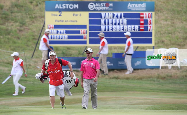Jaco Van Zyl (RSA) approaching the second hole during the Final Round of the 2015 Alstom Open de France, played at Le Golf National, Saint-Quentin-En-Yvelines, Paris, France. /05/07/2015/. Picture: Golffile | David Lloyd<br /> <br /> All photos usage must carry mandatory copyright credit (&copy; Golffile | David Lloyd)