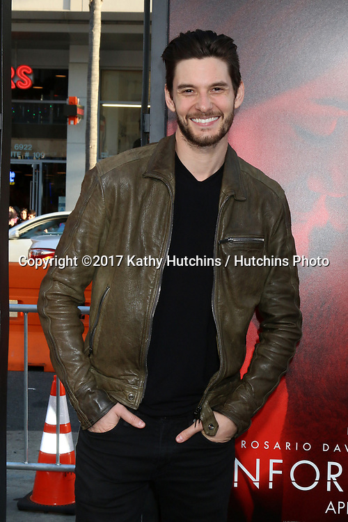 "LOS ANGELES - APR 18:  Ben Barnes at the ""Unforgettable"" Premiere at TCL Chinese Theater IMAX on April 18, 2017 in Los Angeles, CA"