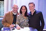 AMERSFOORT - Kyra van Leeuwen en en Etienne Verhoeff van Start2Create . met Hans Wognum.  Nationaal Golf Congres & Beurs (Het Juiste Spoor) van de NVG.     © Koen Suyk.
