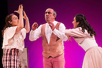 "Helena Lanza, Juanma Navas and Macarena Sanz during theater play of ""Los desvarios del veraneo"" at Teatro Infanta Isabel in Madrid. July 19, 2016. (ALTERPHOTOS/Rodrigo Jimenez) NORTEPHOTO.COM"