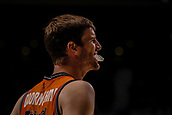 25th March 2018, Madrid, Spain; Endesa Basketball League, Real Madrid versus Valencia; Aaron Doornekamp (Valencia Basket) plays with mouthguard during action