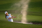 CHON BURI, THAILAND - FEBRUARY 16:  Ai Miyazato plays a bunker shoot on the 18 hole during day one of the LPGA Thailand at Siam Country Club on February 16, 2012 in Chon Buri, Thailand.  Photo by Victor Fraile / The Power of Sport Images