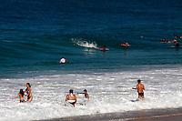Rio de Janeiro,2 de  agosto de 2012- Movimentação  na  praia de  Ipanema  na  manhã desta quinta-feira.