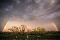 Rainbow after a thunderstorm in the Texas panhandle