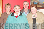 Taking time out for a photo at the Glo?rach center on Thursday night were Margaret and Paddy Hennessy, Mary O'Brien and Mary Murphy, from Newcastlewest and Templrglantine.   Copyright Kerry's Eye 2008