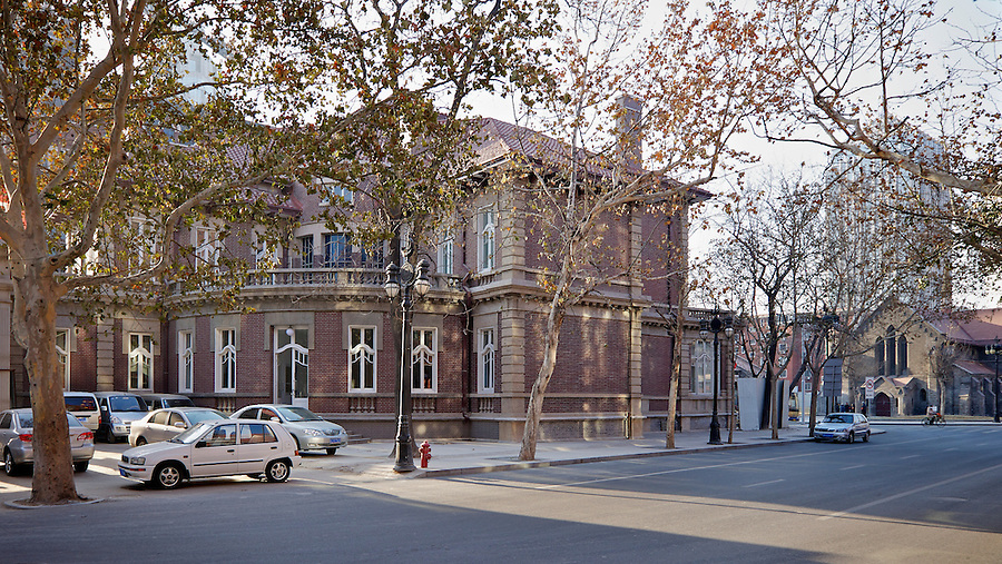 Consul-General's Residence (Post-1920's) In Tianjin (Tientsin).  The Building Was Purchased From The Kailan Mining Administration.  The All Saints Church Is Opposite.