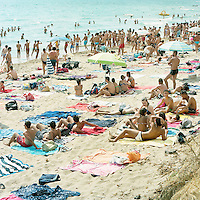 San Marco beach in the Mediterranean Sea in, Sciacca, Italy, in August 2014.<br /> <br /> Photo by Matt Nager