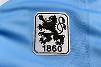 31.03.2018, Football Regionalliga Bayern 2017/2018,  TSV 1860 Muenchen, Detailaufnahme Loewen-Logo auf dem Aktuellen Trikot vom TSV 1860 Muenchen.  *** Local Caption *** © pixathlon