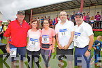 The Waterville representation at the Ballinskelligs 3 Beach Challenge on Sunday were l-r; Pete4r Huggard, Marcella O'Sullivan, Mary O'Sullivan, Tim O'Sullivan & John O'Neill.