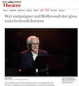 Robert Vaughn Forgotten Voices Pleasance The Times 04.08.14.