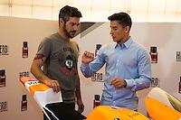 "World Championship Motorcyclist Marc Marquez present his new fragrance ""Hero Sport"" at Casa del Lector in Madrid. October 05, Spain. 2016. (ALTERPHOTOS/BorjaB.Hojas) /NORTEPHOTO"