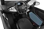 Straight dashboard view of a 2012 - 2014 Renault Twizy Technic 80 Micro Car.