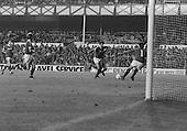 26/08/1980 Everton v Blackpool League Cup 2nd Round 1st Leg .Wayne Harrison blocked....© Phill Heywood.