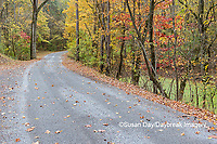 63895-15615 Road and fall color Pyramid Lake State Recreation Area Perry Co. IL