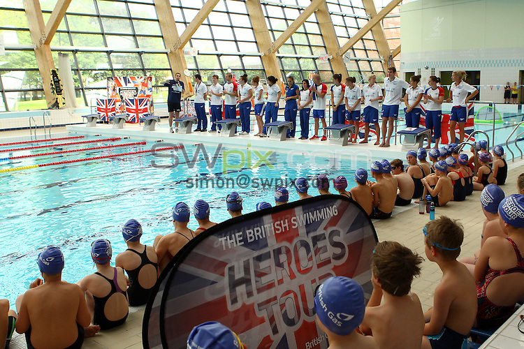 PICTURE BY ALEX WHITEHEAD/SWPIX.COM - Swimming - British Swimming Heroes Tour 2012 - Liverpool Aquatics Centre, Liverpool, England - 18/08/12 - Athletes introduced.