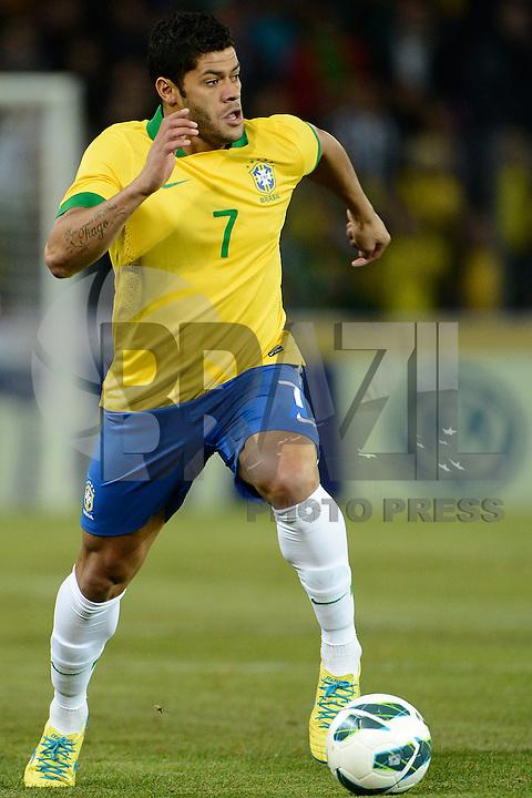 GENEBRA, SUICA, 21 DE MARCO DE 2013 - Hulk jogador da Selacao brasileira durante partida amistosa contra a Itália, disputada em Genebra, na Suíça, nesta quinta-feira, 21. O jogo terminou 2 a 2. FOTO: PIXATHLON / BRAZIL PHOTO PRESS