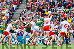 Stephen O'Brien, Kerry in action against Richard Donnelly, Tyrone during the All Ireland Senior Football Semi Final between Kerry and Tyrone at Croke Park, Dublin on Sunday.