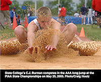 state college high school's C. j. burman long jump