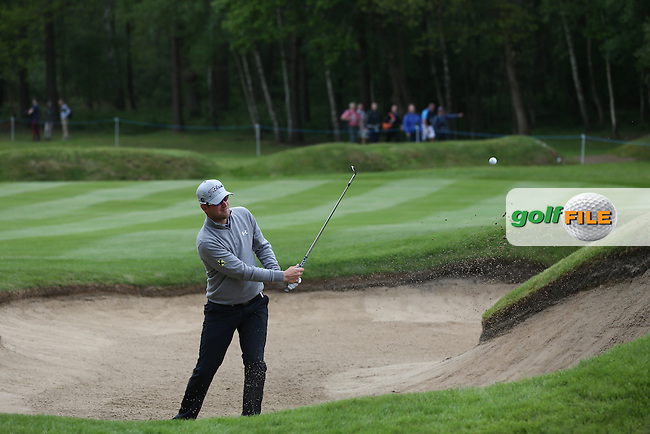 Bernd Wiesberger (AUT) plays out of the bunker on the 7th during Round Two of the 2015 BMW PGA Championship over the West Course at Wentworth, Virginia Water, London. 22/05/2015Picture David Lloyd, www.golffile.ie.