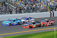 Tony Stewart (#33), Denny Hamlin (#18), Elliott Sadler (#2) and Dale Earnhardt, Jr. (#5)