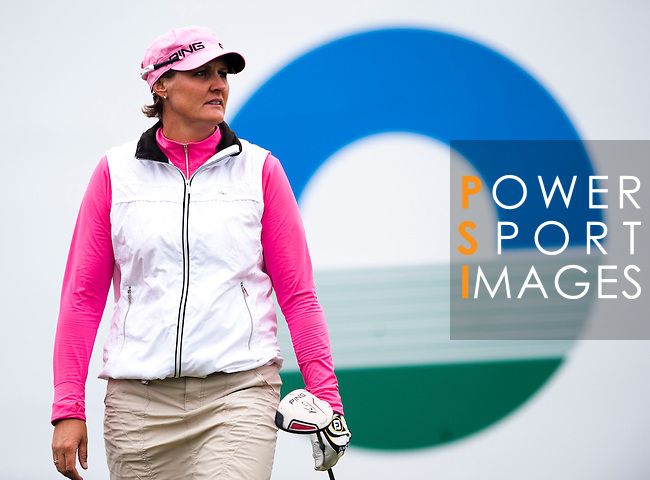 TAOYUAN, TAIWAN - OCTOBER 21: Maria Hjorth of Sweden walks on the 1st tee during day two of the LPGA Imperial Springs Taiwan Championship at Sunrise Golf Course on October 21, 2011 in Taoyuan, Taiwan. (Photo by Victor Fraile/Getty Images)
