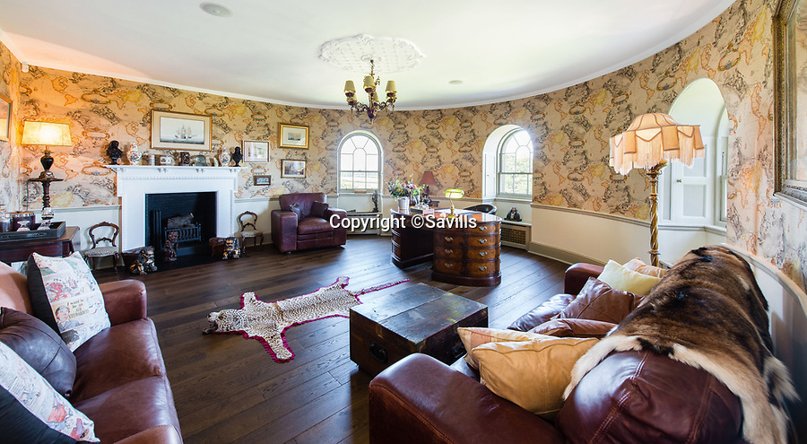 BNPS.co.uk (01202 558833)<br /> Pic: Savills/BNPS<br /> <br /> Office.<br /> <br /> Every man's home may be his castle, but you'll need £8 million to buy this spectacular Scottish version that's the real thing.<br /> <br /> The impressive castle built on the site of one of Mary Queen of Scots' favourite retreats has just been put on the market.<br /> <br /> Seton Castle stands proudly in the East Lothian countryside in the same spot that used to be home to the royal Seton Palace.<br /> <br /> The palace, which was demolished in 1789, was regularly stayed in by the Scottish queen as well as her son James I.<br /> <br /> Its stone was used to build the current castle which was designed by acclaimed architect Robert Adam and completed in 1791.